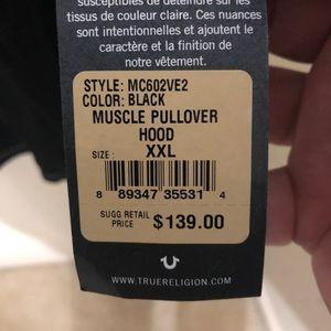 True Religion Mens Triple Needle Pullover Size XXL